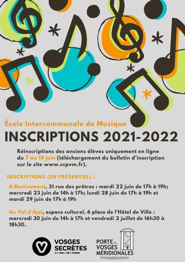 Inscriptions Ecole de musique