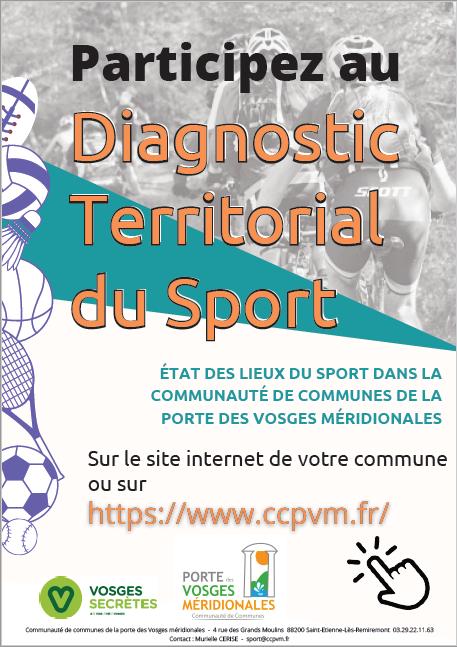 Affiche diagnostic territorial sport